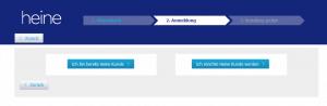 Anmelden/Registrieren bei Heine