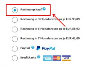 Heine: Zahlungsart ändern